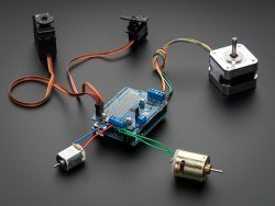 Servo/DC/Step Motor Shield for Arduino - Thumbnail