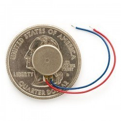 Robotistan - Shaftless Vibration Motor 10x3 (10mm Cable Lenght)