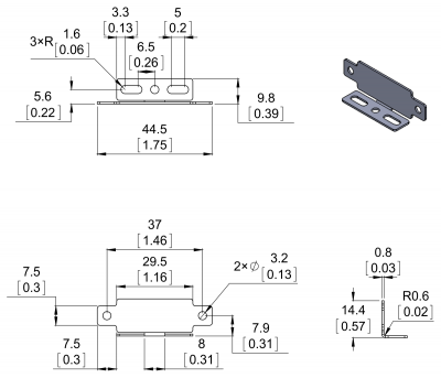 Sharp Infrared Sensor Holder (Parallel) - PL-2678