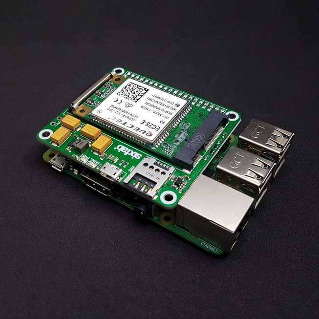 Sixfab 3G, 4G/LTE için mPCI-E Base Shield - Kısa Header