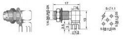 SMA-KWE - RF Konnektör - Thumbnail