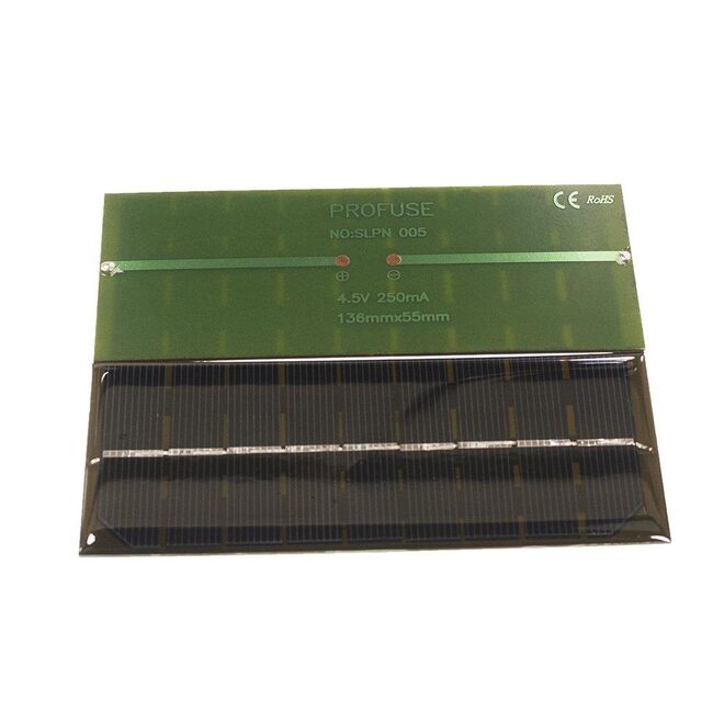 Solar Panel - 4.5V 250mA 136x55mm