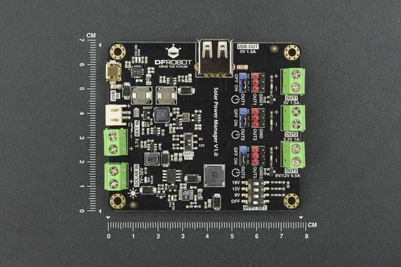 Solar Power Manager (for 9V-12V-18V solar panel)