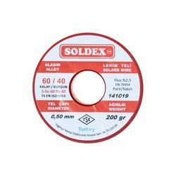 Soldex 0.5 mm 200 g Lehim Teli (%60 Sn / %40 Pb) - Thumbnail