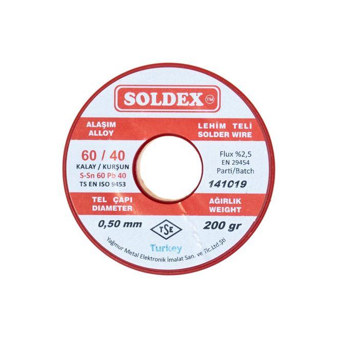 Soldex 0.5 mm 200 gr Soldering Wire (%60 Sn / %40 Pb)