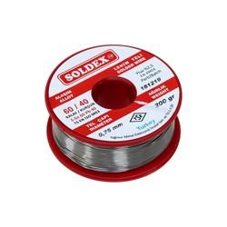 Soldex - Soldex 0.75 mm 200 g Lehim Teli (%60 SN / %40 Pb)