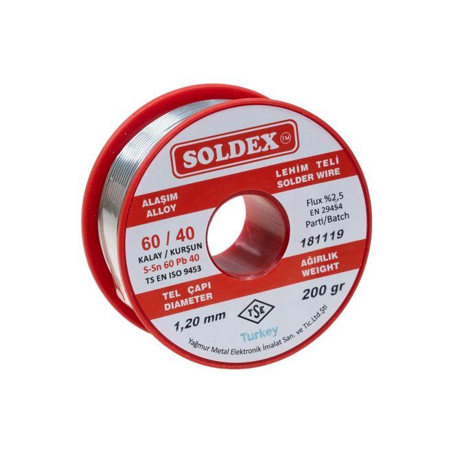 Soldex 1.2 mm 200 gr Soldering Wire (%60 Sn / %40 Pb)