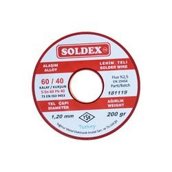 Soldex 1.2 mm 200 gr Soldering Wire (%60 Sn / %40 Pb) - Thumbnail