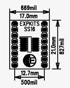 SOSS16 SMD Dip Dönüştürücü