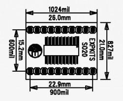 SOSS20 SMD Dip Dönüştürücü - Thumbnail