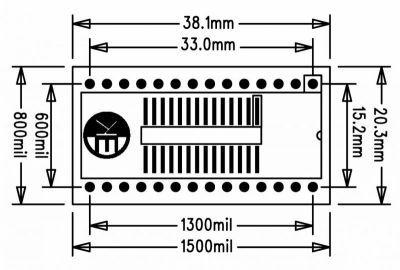 SOSS28 SMD-Dip Converter Board
