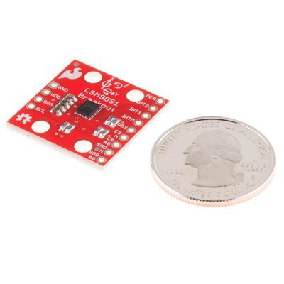 SparkFun 9 DOF IMU - 9 Degrees of Freedom IMU Breakout - LSM9DS1