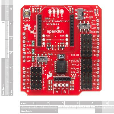 SparkFun Motor Sürücülü Xbee Shield'i - Ludus Protoshield Wireless