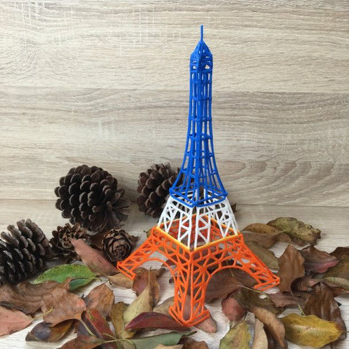 Stencil For 3D Printing Pen - Eifel Tower
