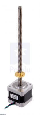 Stepper Motor with 18cm Lead Screw: Bipolar, 200 Steps/Rev, 42×38mm, 2.8V, 1.7 A/Phase