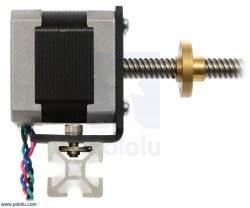 Stepper Motor with 18cm Lead Screw: Bipolar, 200 Steps/Rev, 42×38mm, 2.8V, 1.7 A/Phase - Thumbnail