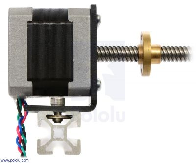 Stepper Motor with 18cm Lead Screw: Bipolar, 200 Steps/Rev, 42×38mm, 2.8V, 1.7 A/Phase