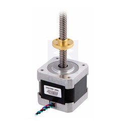 Pololu - Stepper Motor with 18cm Lead Screw: Bipolar, 200 Steps/Rev, 42×38mm, 2.8V, 1.7 A/Phase