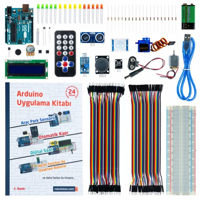 Super Starter Set with Original Arduino Uno Rev3 (Turkish book)