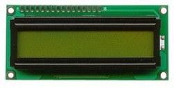 1x16 LCD Ekran, Yeşil Üzerine Siyah - TC1601A-01XB0