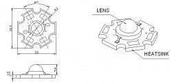 Tekli Yıldız Power Led PCB′si - Alüminyum - Thumbnail