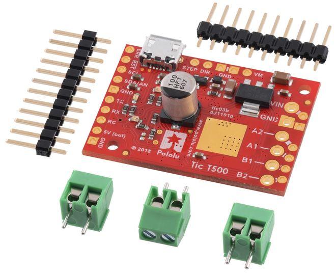 Tic T500 Step Motor Sürücü (PC-Serial-I2C-PWM-Analog)