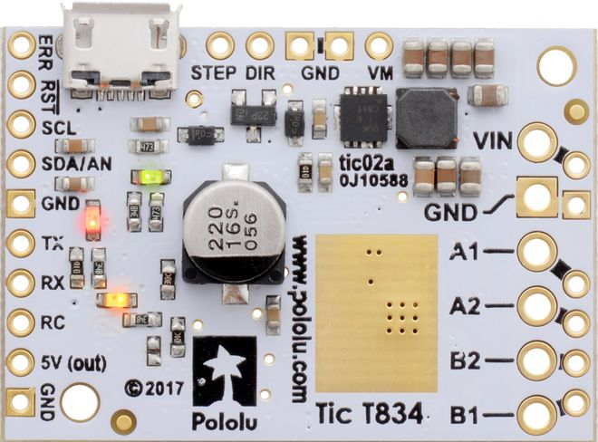 Tic T834 Step Motor Sürücü (PC-Serial-I2C-PWM-Analog)