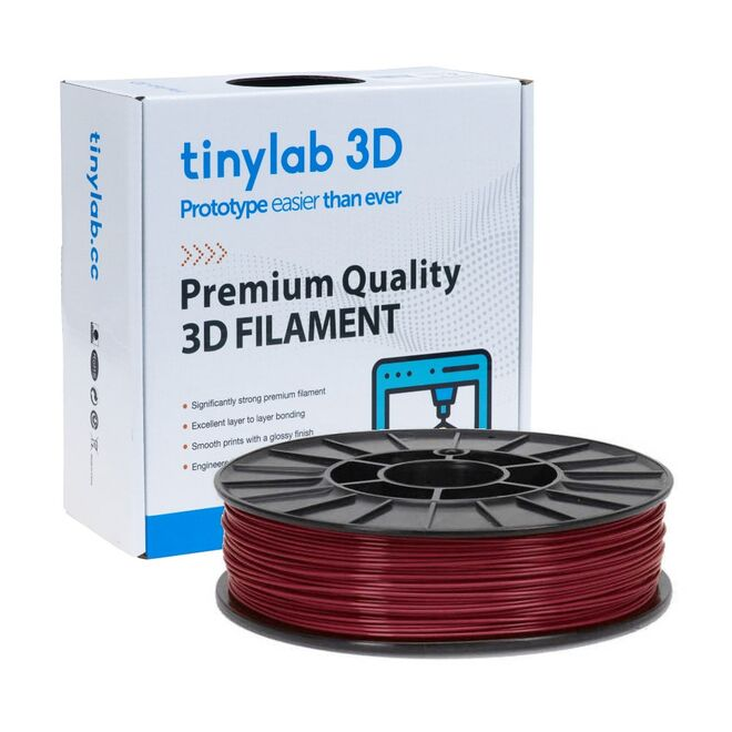 tinylab 3D 1.75 mm Claret Red PLA Filament