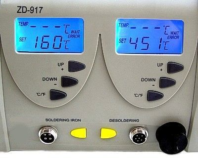 ZD-917 Isı Ayarlı Vakumlu Dijital Lehimleme İstasyonu (Havya)