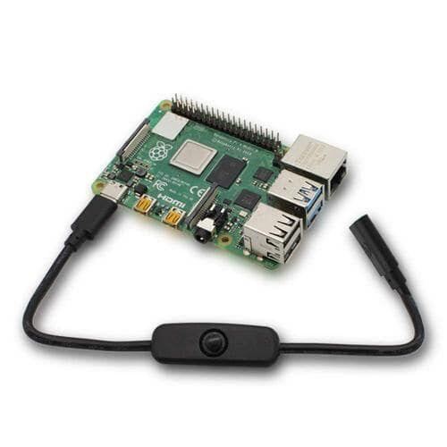 Type-C Raspberry Pi 4 Güç Anahtarlı Kablo