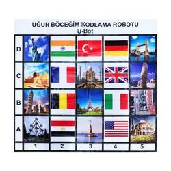 U-Bot - U-Bot Coding Robot Countries and Flags Mat