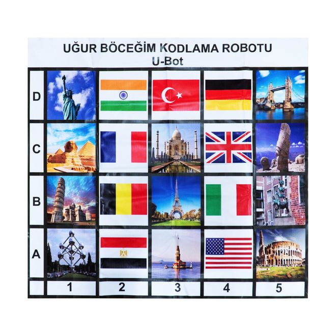 U-Bot Coding Robot Countries and Flags Mat