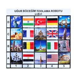 U-Bot - U-Bot Kodlama Robotu Ülkeler ve Bayraklar Matı