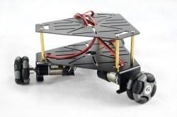 Üçgen 48 mm Omniwheel Robot Platformu (Enkoderli Motorlar ile), 15001 - Thumbnail