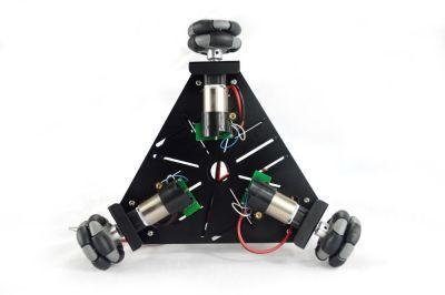 Üçgen 48 mm Omniwheel Robot Platformu (Enkoderli Motorlar ile), 15001