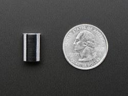 Ufak Metal Potansiyometre Başlığı - 10 mm Çap, 15 mm Uzunluk - Thumbnail