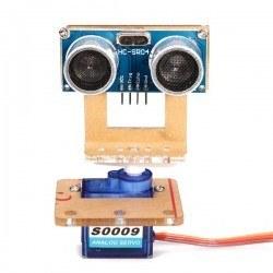 Robotistan - Ultrasonik Sensör Montaj Aparatı Tip A - Servo Uyumlu - Pan