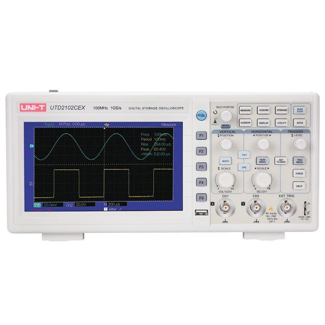 UNI-T UTD 2102CE Colored Screen Digital Oscilloscope with Memory , 100MHz