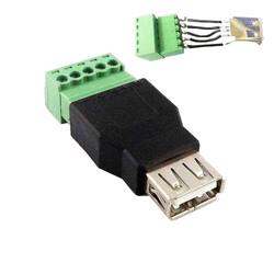ODSEVEN - USB-A Dişi Soket - 5 Pinli Terminal Blok