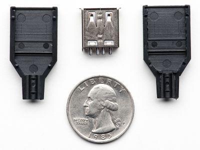 USB A Tipi Kılıflı Soket (Dişi)