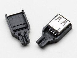 USB A Tipi Kılıflı Soket (Dişi) - Thumbnail