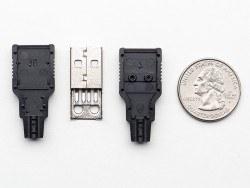 Adafruit - USB A Tipi Kılıflı Soket (Erkek)