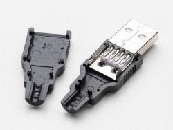 USB A Tipi Kılıflı Soket (Erkek) - Thumbnail