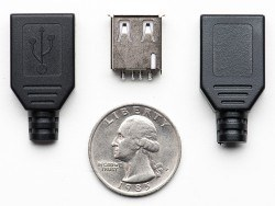 USB A Tiype Housing Socket(Female) - Thumbnail