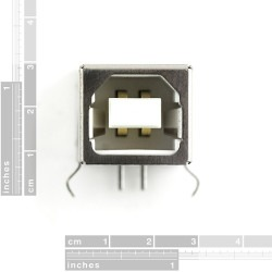 Robotistan - USB Dişi B Tip Konnektör (USB Female Type B Connector)