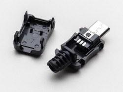 USB Micro-B Tipi Kılıflı Soket - Thumbnail