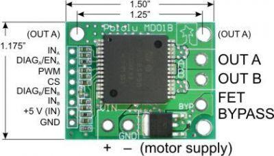VNH2SP30 Motor Driver Board - PL-706