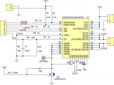 VNH2SP30 Motor Sürücü Kartı - PL-706