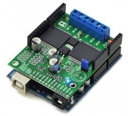 VNH5019 Arduino Uyumlu Çift Motor Sürücü Shield - PL-2507 - Thumbnail