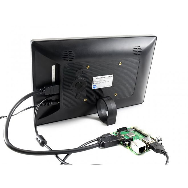 WaveShare 11.6 inch HDMI Capasitive Touch LCD with Case (Multi System)- 1920x1080 (H)